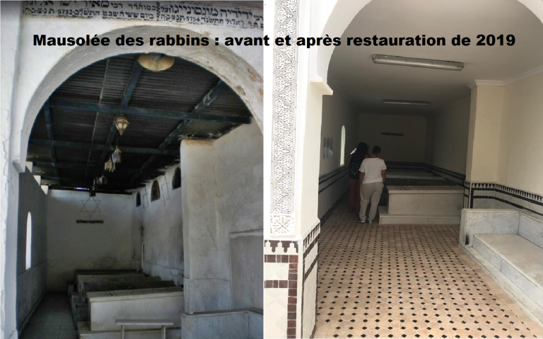 mausolee Rabbins avant après restauration 2